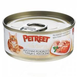 Консервы Petreet кусочки розового тунца с лососем, 70 г