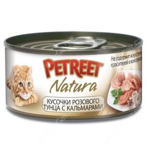 Консервы Petreet кусочки розового тунца с кальмарами, 70 г