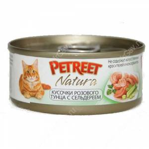 Консервы Petreet кусочки розового тунца с сельдереем, 70 г