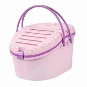 Корзина для переноски животных, розово-фиолетовый