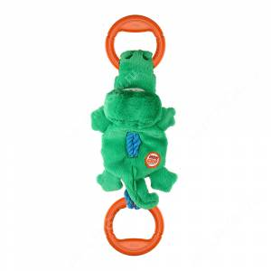 Крокодил на веревке GiGwi с пищалкой