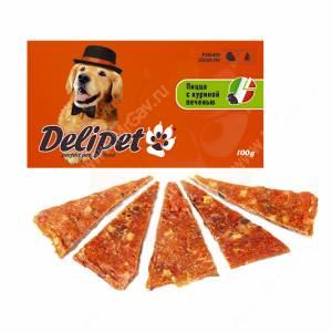 Лакомство Delipet пицца с куриной печенью, 100 г