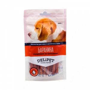 Лакомство Delipet салямини из баранины, 100 г