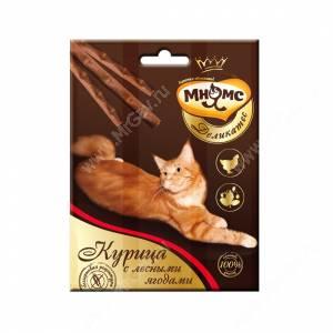 Лакомство Мнямс Деликатес палочки для кошек с курицей и лесными ягодами, 3 шт.