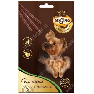 Лакомство Мнямс Деликатес палочки для собак с олениной и яблоком, 3 шт.