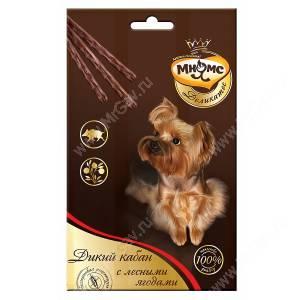 Лакомство Мнямс Деликатес палочки для собак с кабаном и лесными ягодами, 3 шт.