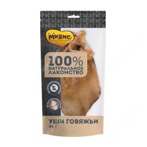 Лакомство Мнямс для собак Уши говяжьи, 85 г