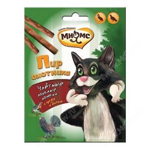 Лакомство Мнямс палочки для кошек Пир охотника, 3 шт.