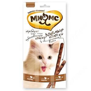 Лакомство Мнямс Pro Pet палочки для кошек с индейкой и ягненком, 13,5 см, 3 шт.