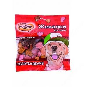 Лакомство Мнямс Жевалки для собак Heart&Bears с говядиной и ягненком