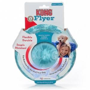 Летающая тарелка Kong Puppy Flyer, голубая