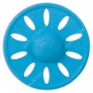 Летающий диск JW Whirl-Wheel из каучука, маленький, голубой
