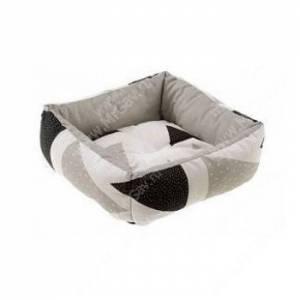 Лежак Ferplast Coccolo Mini, 36 см*36 см*12 см, бежевые и черные треугольники