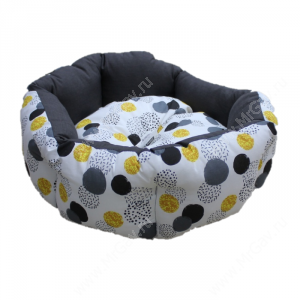 Лежак Ferplast Domino, 50 см*40 см*18 см, желтые серые пятна