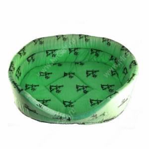 Лежак №4, 53 см*38 см*18 см, зеленый бамбук