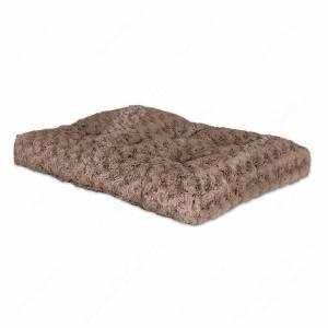 Лежанка Midwest Ombre плюшевая с завитками, 122 см*74 см, мокко