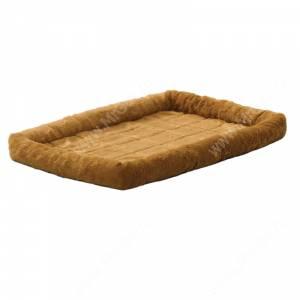 Лежанка Midwest Pet Bed меховая, 56 см*33 см, коричневая