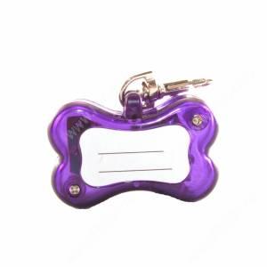 Мерцающий адресник Косточка, фиолетовый
