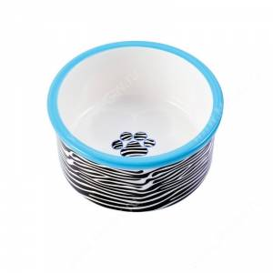 Миска керамическая КерамикАрт, 0,6 л, зебра