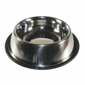 Миска металлическая на резинке 0,8  л