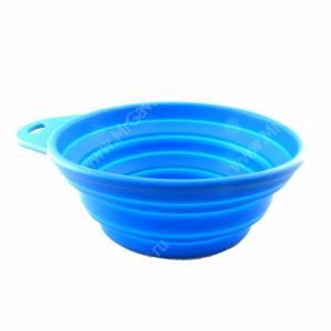 Миска складная 0,85 л, синяя