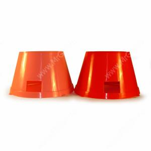 Миски пластиковые для спаниеля 0,65 л, красная и розовая