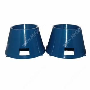 Миски пластиковые для спаниеля 0,65 л, синие
