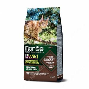 Monge Cat Bwild Grain Free для крупных кошек всех возрастов (Буйвол)