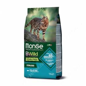 Monge Cat Bwild Grain Free для взрослых стерилизованных кошек (Тунец)