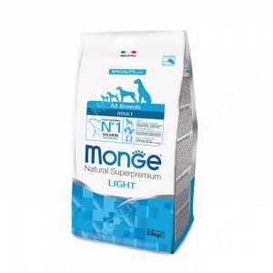 Monge Dog All Breeds Speciality Light (Низкокалорийный лосось с рисом)