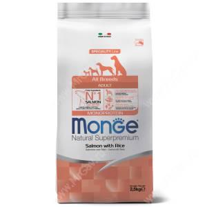 Monge Dog All Breeds Speciality (Лосось с рисом)