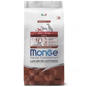 Monge Dog Speciality Mini Adult (Ягненок с рисом и картофелем)