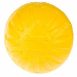 Мяч из вспененной резины StarMark Fantastic Foam Ball, средний, желтый