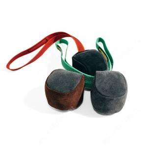 Мяч кожаный на веревке Kinologprofi