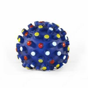 Мяч с шипами большой, синий - уценка