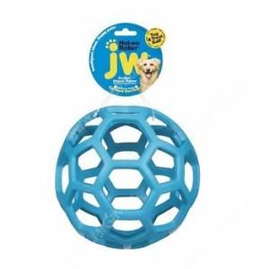 Мяч сетчатый Hol-ee Roller Dog Toys из каучука, малый, голубой