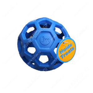 Мяч сетчатый Hol-ee Roller Dog Toys из каучука, средний, синий