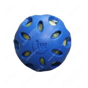 Мяч сетчатый хрустящий JW Crackle&Crunch Ball, средний, синий