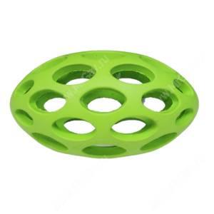 Мячик для регби сетчатый JW Sphericon Dog Toys из каучука, средний, зеленый