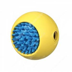 Мячик с ежиком JW Grass Ball из каучука, большой, желтый