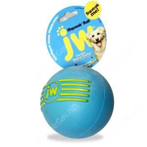 Мячик с пищалкой iSqueak Ball из каучука, малый, голубой