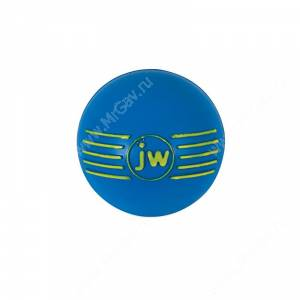 Мячик с пищалкой iSqueak Ball из каучука, большой, синий