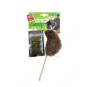 Мышка меховая с кошачьей мятой GiGwi