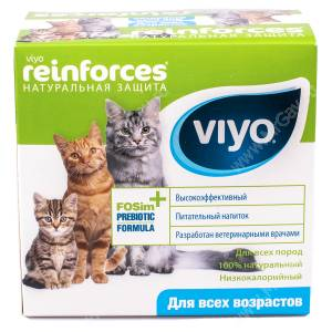 Напиток-пребиотик Viyo Reinforces All Ages Cat для кошек всех возрастов, 7*30 мл