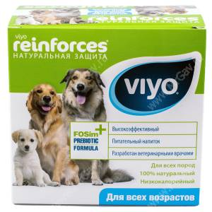 Напиток-пребиотик Viyo Reinforces All Ages Dog для собак всех возрастов, 7*30 мл