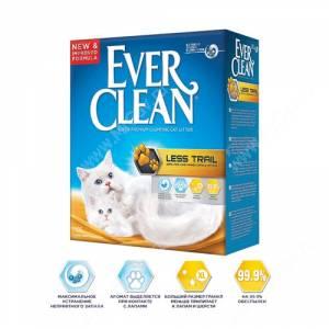 Наполнитель Ever Clean Less Trail комкующийся для длинношерстных кошек, 6 л