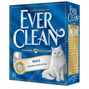 Наполнитель Ever Clean White комкующийся с гигиеническим индикатором