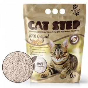 Наполнитель растительный комкующийся Cat Step Tofu Original