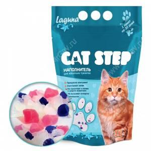 Наполнитель силикагелевый Cat Step Лагуна, 3,8 л