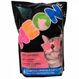 Наполнитель силикагелевый комкующийся Neon Litter, розовый, 1,8 кг